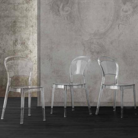 Chaise en polycarbonate transparent de design moderne Ferrara