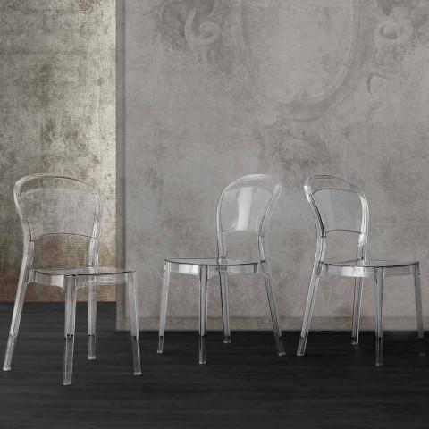 Chaise moderne en polycarbonate transparent produite en Italie Ferrara