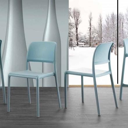 Chaise de cuisine en résine et Fiberglass de design moderne Ravenna