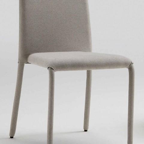Chaise design de salon en cuir, fabriqué en Italie, Gazzola