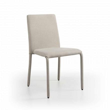 Chaise design de salon en simili cuir, fabriquée en Italie, Gazzola