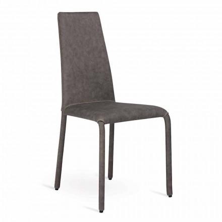 Chaise living moderne en simili cuir fabriquée en Italie, Gazzola