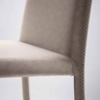Chaise vivante moderne en simili cuir fabriquée en Italie, Gazzola