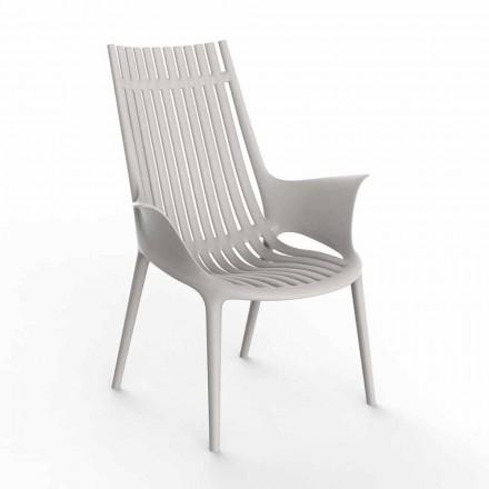 Chaise longue avec accoudoirs pour extérieur en plastique 4 pièces - Ibiza par Vondom