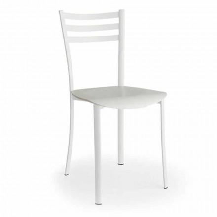 Chaise moderne avec assise interchangeable en bois de chêne Made in Italy, 2 pièces - Ace