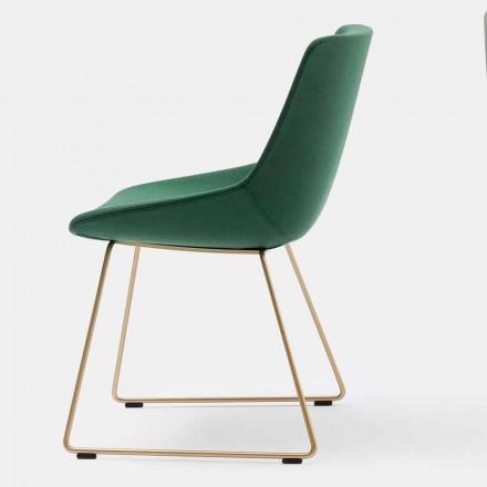 Chaise Moderne en Tissu avec base luge Made in Italy– Artika