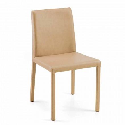 Chaise moderne pour salle à manger Jamila, faite à main en Italie