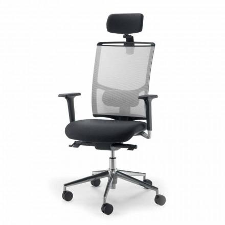 Chaise opérationnelle, semidirectionnel tissu produite en Italie Mina