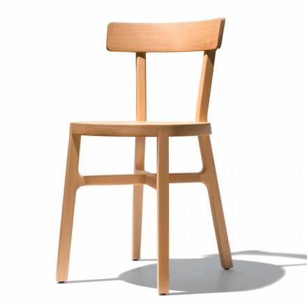 Chaise pour cuisine ou salle à manger en hêtre massif Made in Italy - Cima