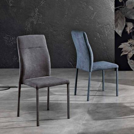 Chaise design pour salle à manger en tissu made in Italy, Luigina
