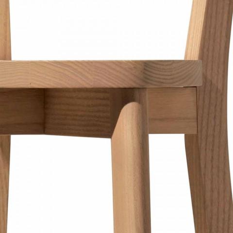 Chaise de salle à manger en frêne et bois massif Made in Italy - Alima