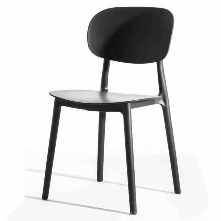 Chaise de salle à manger empilable en polypropylène, 4 pièces - Zagreb