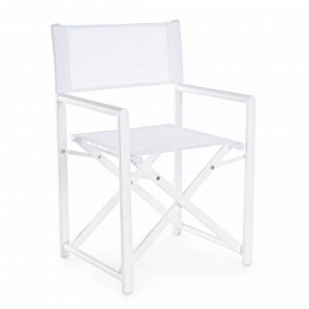 Chaise de directeur de jardin design moderne en aluminium pour l'extérieur - Cameo