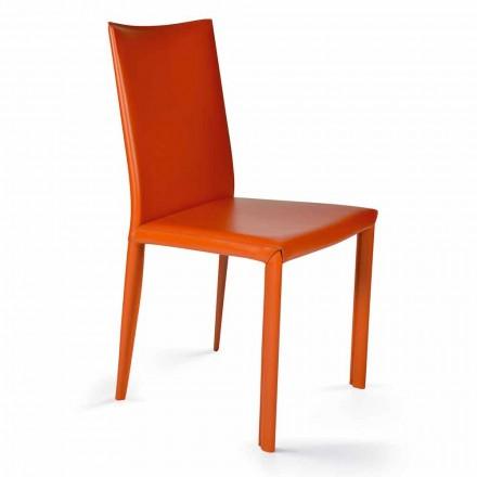 Chaise salle à manger design moderne H.88,5cm Africa, faite en italie