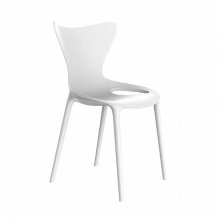 Chaises de jardin design empilables en polypropylène 4 pièces - Love by Vondom