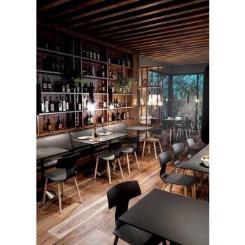 Made in Italy Chaises de salle à manger en bois et polypropylène, 2 pièces - Clover