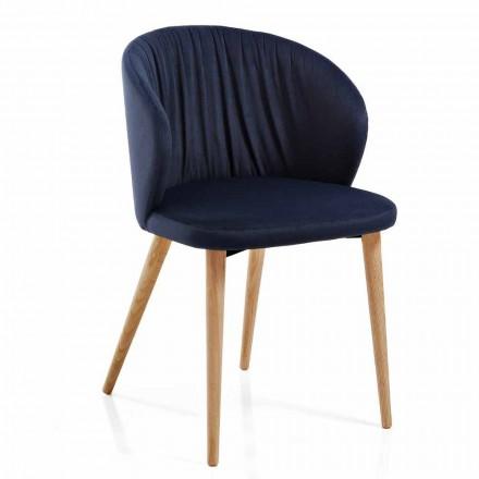 Chaises de salle à manger en tissu Design moderne élégant 2 pièces - Reginaldo