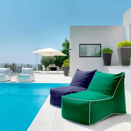 Chaise longue / pouf de jardin moderne Sacco par Talenti
