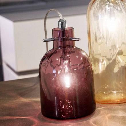 Selene Bossa Nova lampe de table Ø11 H16 cm, verre soufflé améthyste