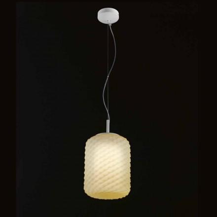 Selene Domino lampe suspendue en verre soufflé Ø21 H 27/140 cm