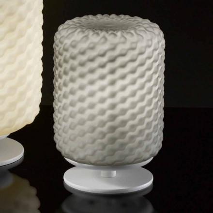 Seline Domino lampe de table Ø15 H22cm, verre soufflé faite à la main