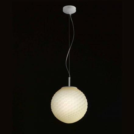 Selene Domino lampe en verre soufflé faite à la main Ø27 H 27/140cm
