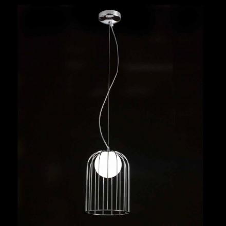 Selene Kluvi lampe suspendue en verre soufflé  Ø19 H 27/150cm