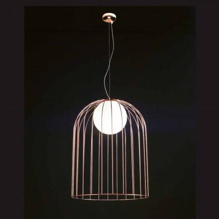 Sele Kluvi lampe suspendue en verre soufflé Ø54 H 70/200 cm