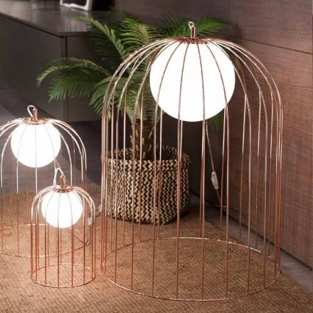 Selene Kluvì lampe de table de design en verre soufflé Ø54 H 70cm