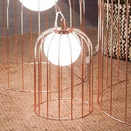 Selene Kluvì lumière en verre soufflé et métal Ø19 H 27cm