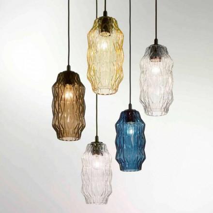 Selene Origami lampe suspendue en verre soufflé  Ø16 H 30/140cm