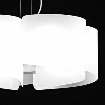 Lampe suspension de cristaux blancs Selene Papiro Ø65 x H 140 cm