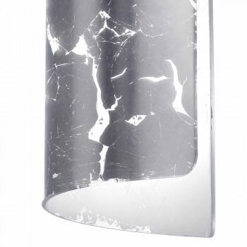 Selene Papyrus lampe moderne pendentif en cristal Ø15 H 125cm