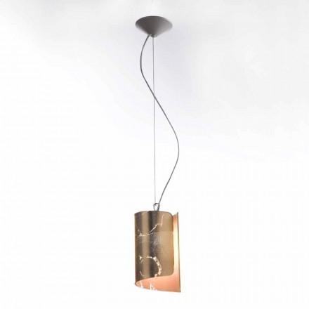 Selenen Papiro lampe suspendue moderne en cristal Ø15 H125 cm