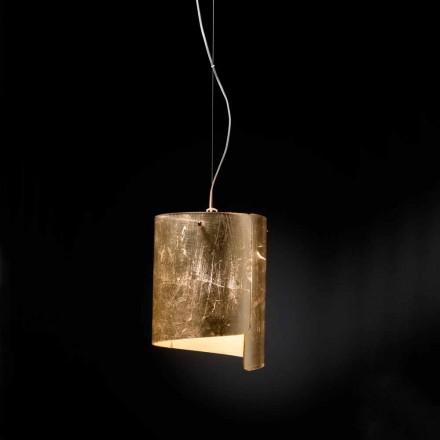 Selene Papiro lampe suspendue de design moderne en cristal Ø26 H 125 cm
