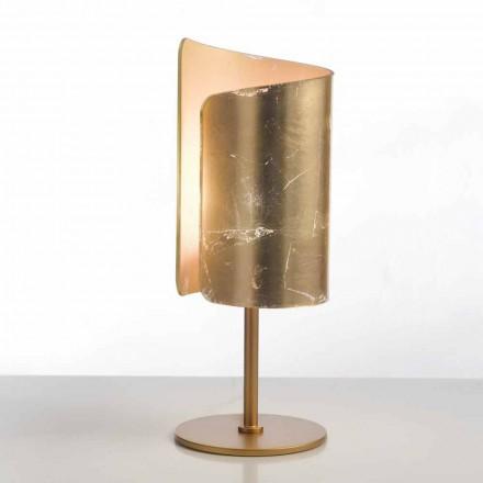 Selene Papiro lampe de table de design en cristal Ø15 H38cm
