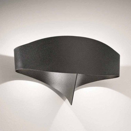 Selene Scudo applique mural de design moderne en acier verni