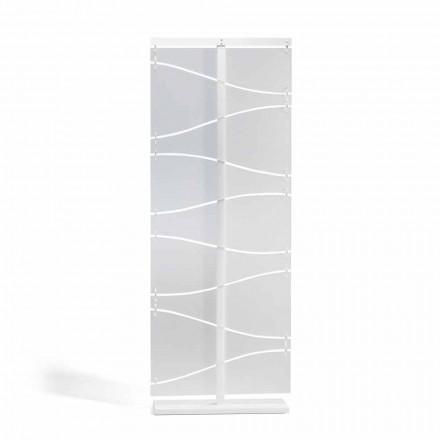 Séparé de design moderne italien en méthacrylate blanc satiné Mara