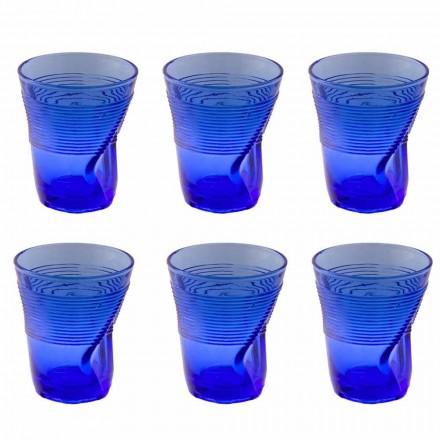 Verres à eau en verre coloré Service 12 pièces Design particulier - Sarabi