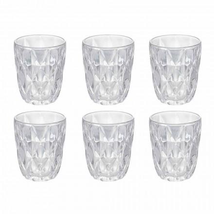 Ensemble de verres à eau en verre transparent décoré, 12 pièces - Renaissance
