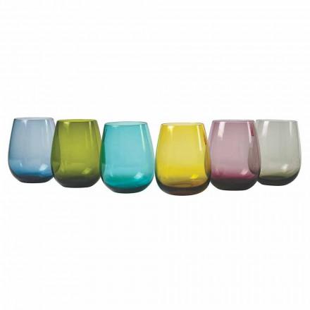 Verres à eau design en verre coloré, 12 pièces - Aperi