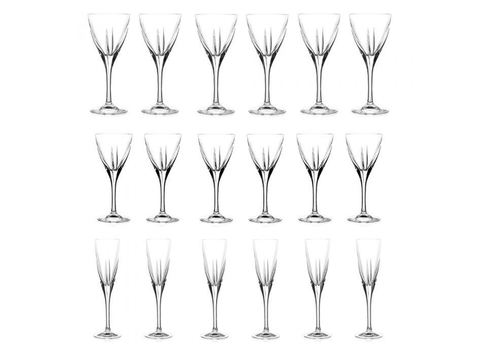 Assortiment de Gobelets en Cristal Écologique Transparent 18 Pcs - Amalgame