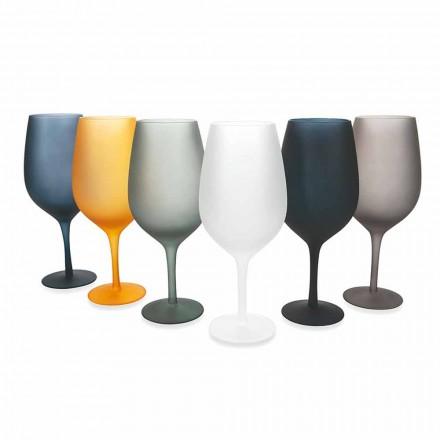 Ensemble de gobelet à vin rouge ou blanc en verre coloré, 12 pièces - bord