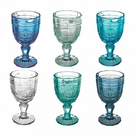 Ensemble de gobelet à vin coloré en verre et décoration de style oriental 12 pièces - Vis