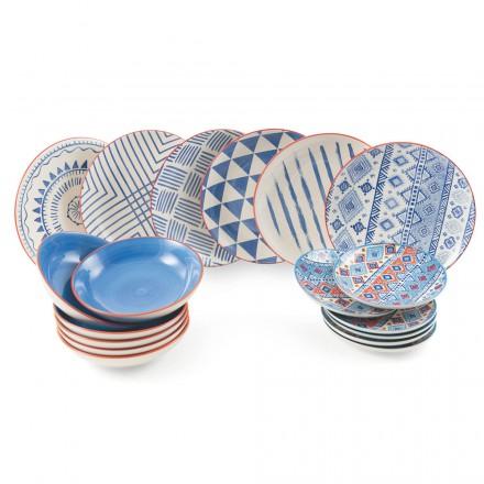 Service Complet de Table Asiettes coloré et moderne 18 Pièces de Design – Incas
