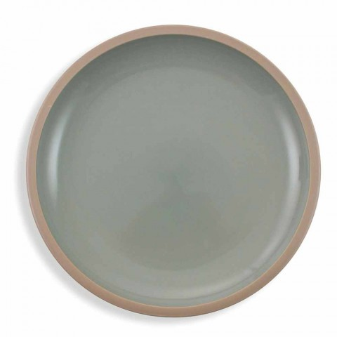 Service de vaisselle assiettes colorées design complet 18 pièces - Osteria