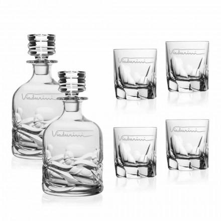 Service à whisky écologique en cristal avec logo personnalisé - Titane
