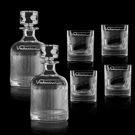 Service de whisky en cristal écologique personnalisable avec logo, 6 pièces - tactile
