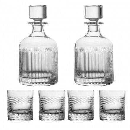 Ensemble de 6 pièces à whisky en cristal écologique au design de luxe - Tactile