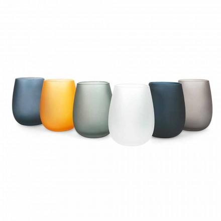 Ensemble de verres à eau en verre coloré moderne, 12 pièces - Jante